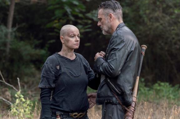 Negan e Alpha nella decima stagione di The Walking Dead