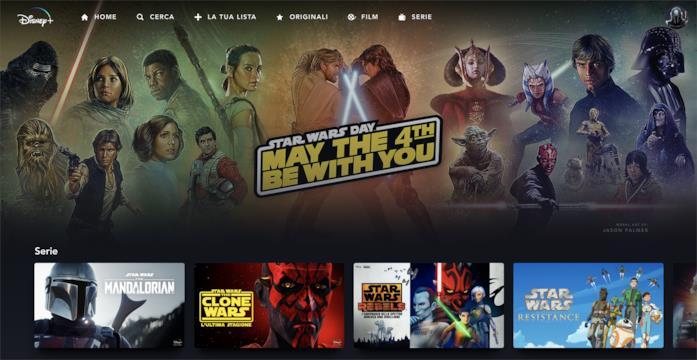 Un'immagine che rappresenta i cambiamenti di Disney+ in merito allo Star Wars Day