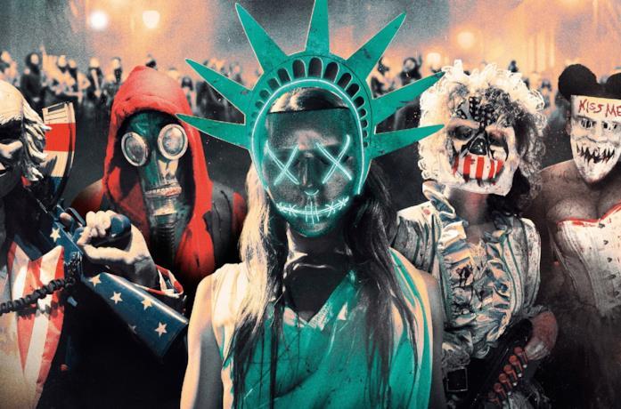 La notte del giudizio: le maschere d'orrore del film