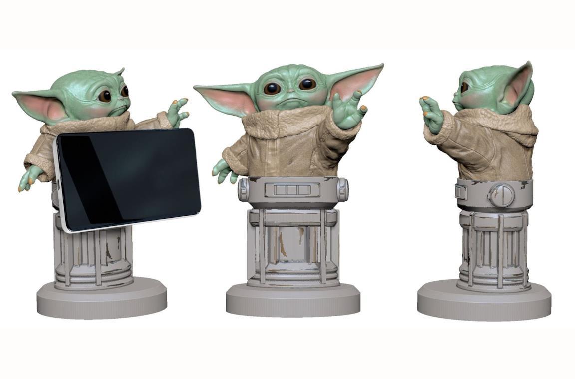 Baby Yoda e la forza vi vengono in aiuto con questo porta telefono di Merchoid