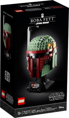 La confezione del casco LEGO di Boba Fett