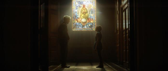 La vetrata indicata dalla bambina a Mobius