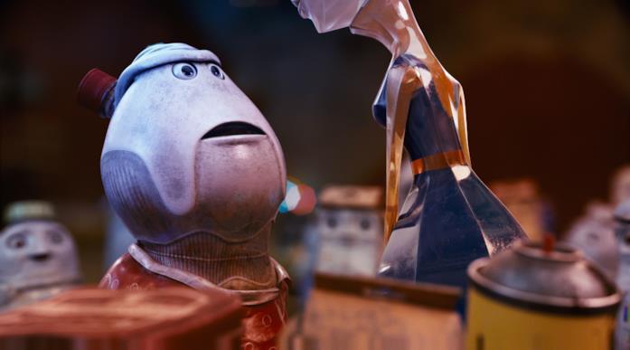 Bubbles e Bliss in una scena del film d'animazione Trash