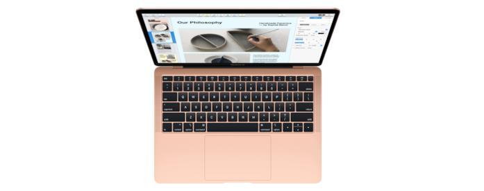 Immagine stampa dell'ultimo MacBook Air di Apple