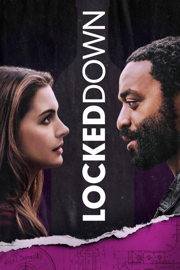 Il cast di profilo nella locandina di Locked Down