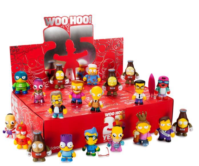 Una parte dei personaggi della serie Kidrobot dedicata ai Simpson