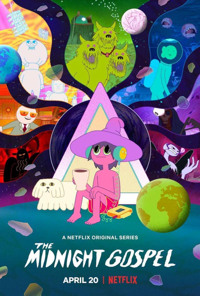 Il poster della serie The Midnight Gospel