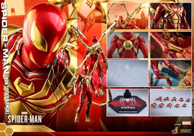 Iron Spider nei suoi diversi dettagli