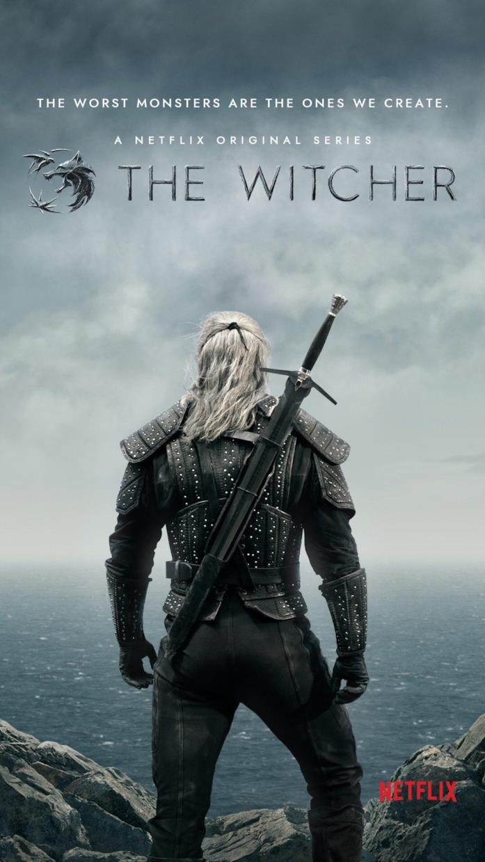 Geralt è protagonista del poster della serie di The Witcher