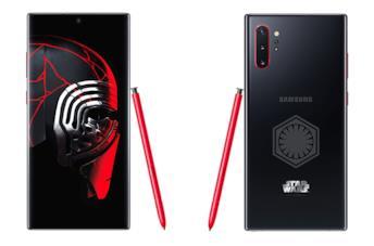 Fronte e retro del Samsung Galaxy Note 10+ Star Wars Special Edition