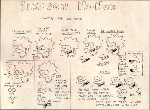 Lisa Anni '90 nel tutorial per disegnare i Simpson