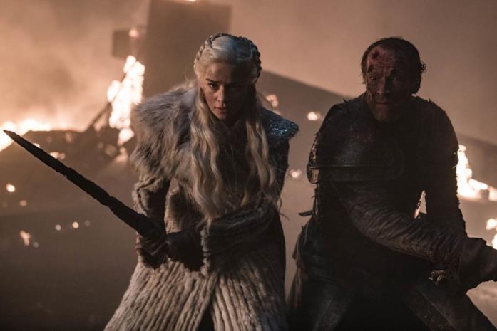 Daenerys e Jorah in una scena di GOT 8X03