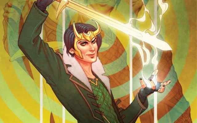 Dettaglio della cover di Loki: Agent of Asgard #1