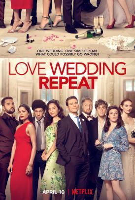 Il poster del film Netflix Love wedding repeat