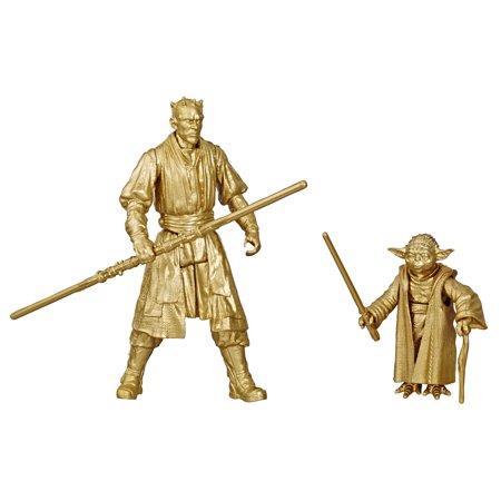 Star Wars Skywalker Saga in scala da 3,75 pollici Darth Maul e Yoda, confezione da 2