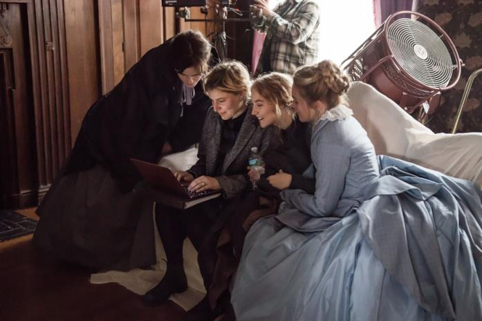 Greta Gerwig e il cast
