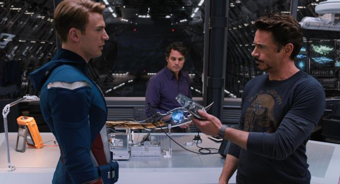 Capitan America, Hulk e Iron Man in The Avengers