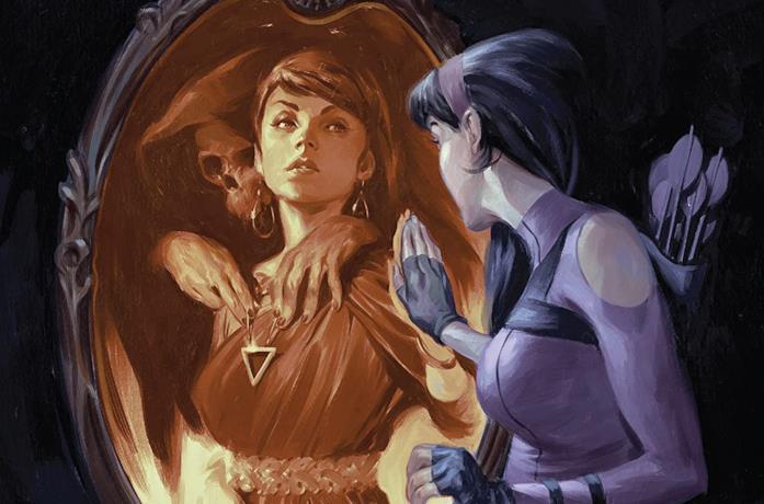 Dettaglio della cover di Hawkeye: Kate Bishop Vol. 2: Masks