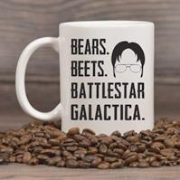 """Bears Beets Battlestar Galactica"" Mug"