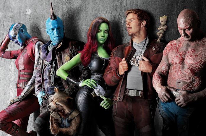 Il cast principale di Guardiani della Galassia
