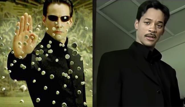 Neo che ferma le pallottole in Matrix e il deepfake di Will Smith