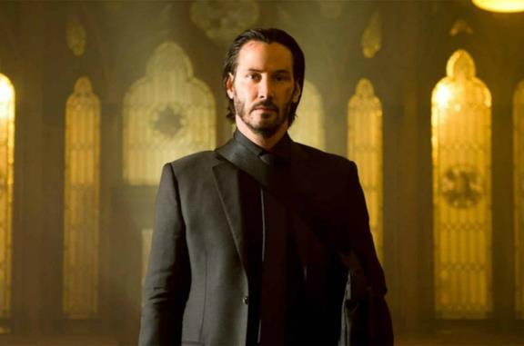 Un'immagine di Keanu Reeves nei panni di John Wick