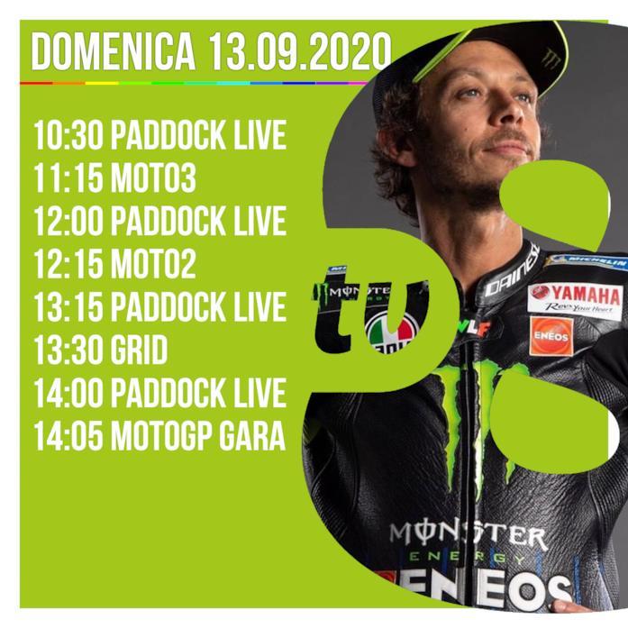 Gli orari della MotoGp oggi su TV8 in diretta