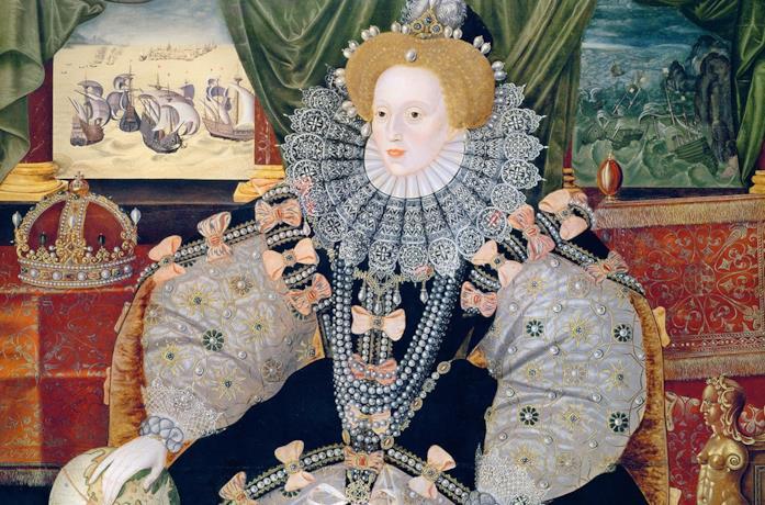 Un ritratto di Elisabetta I, protagonista di Becoming Elizabeth