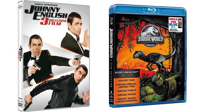 Johnny English e Jurassic Park Collection in formato Home Video
