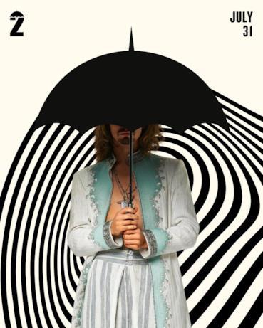 Il character poster di Umbrella Academy 2 con Klaus
