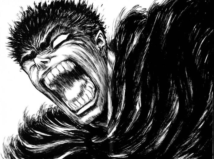 La rabbia di Gatsu in Berserk