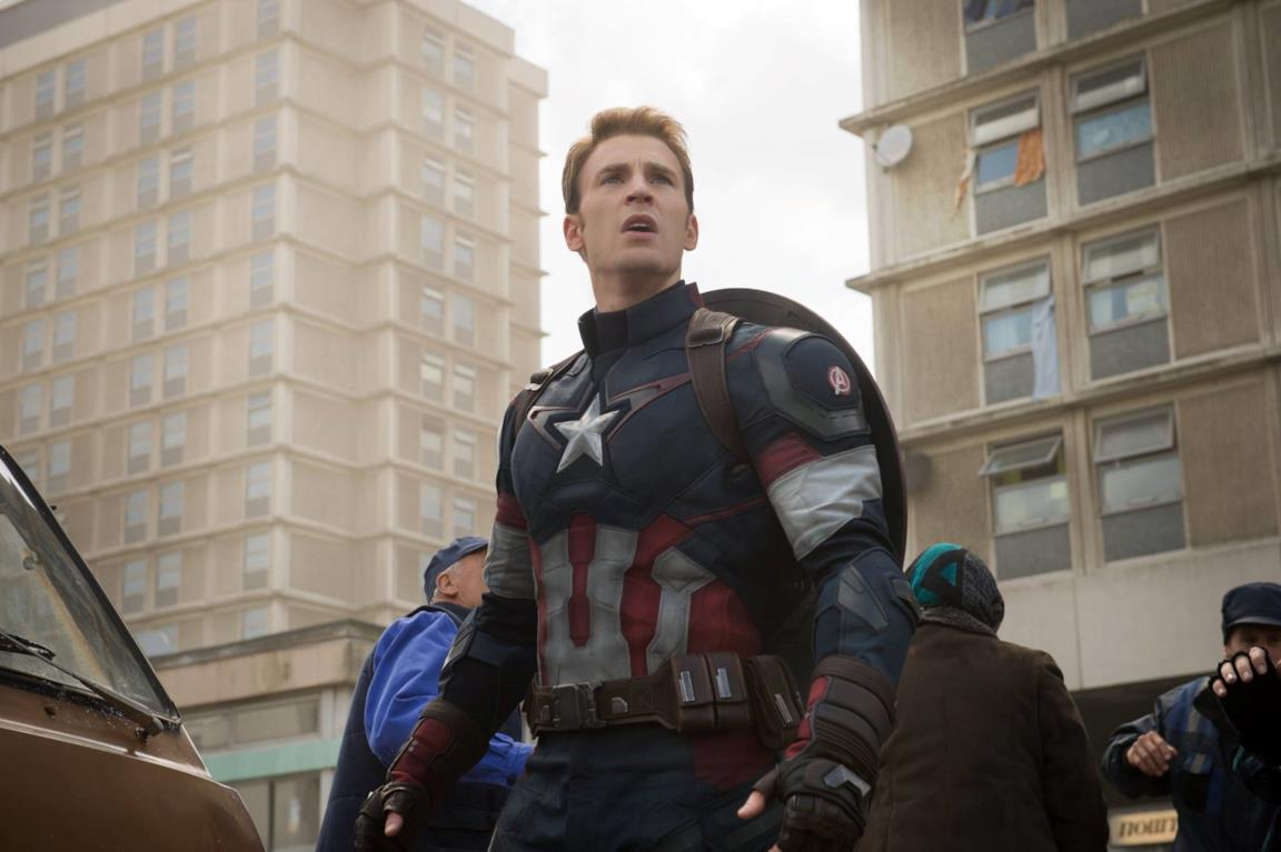 Chris Evans come Capitan America in Avengers: Age of Ultron