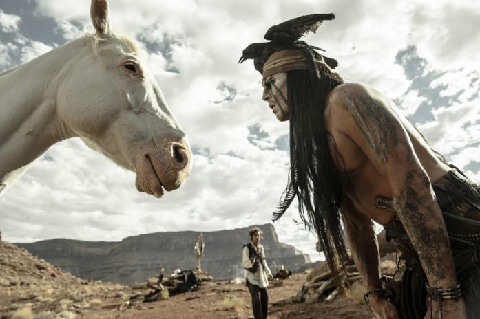 Johnny Depp in Lone Ranger