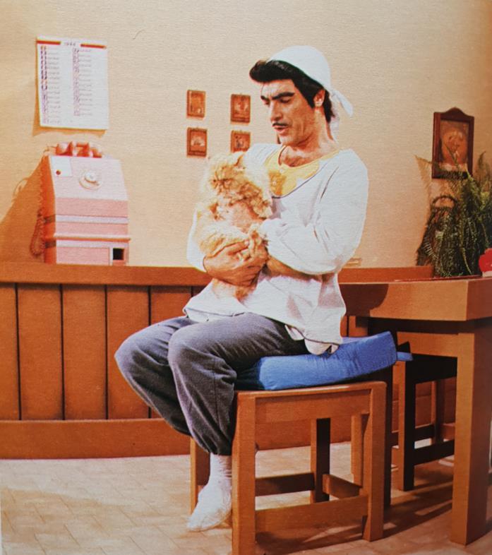 Una scena di Licia dolce Licia con gatto Giuliano