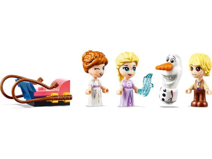 Le minifigure LEGO set 43175 di Frozen 2: Elsa, Anna, Olaf e Kristoff