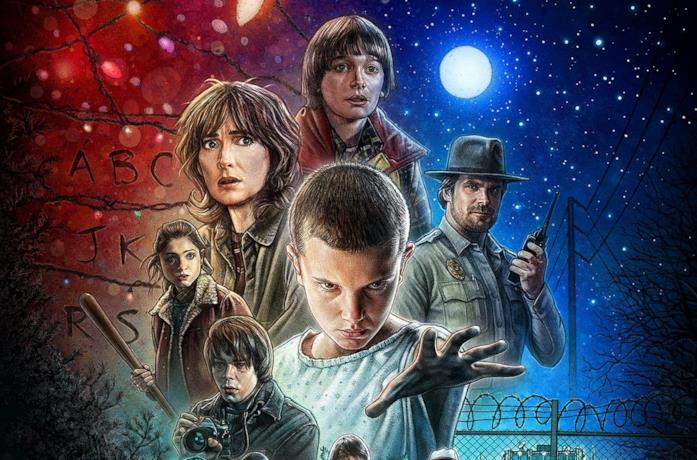 I protagonisti di Stranger Things in un'immagine promozionale