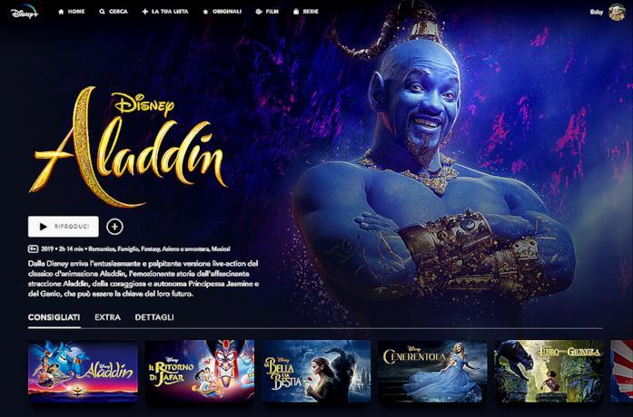 Film live action su Disney+