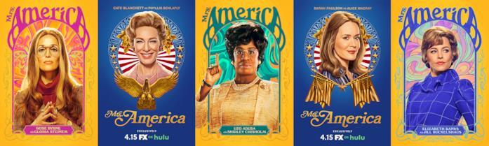 5 delle protagoniste dello show Mrs. America