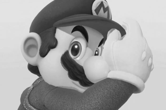 Super Mario in bianco e nero