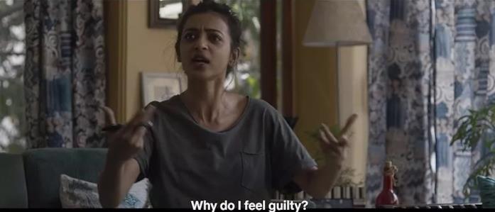 Radhika Apte in una scena del film Lust Stories