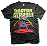 Licenza Ufficiale Marvels Doctor Strange Maglietta Mezze Maniche T-Shirt(Nera), Large