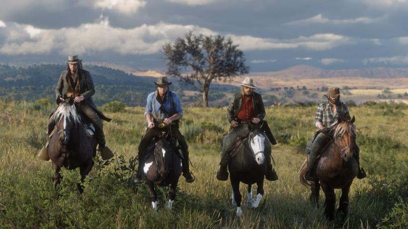 La gang di Van Der Linde a cavallo