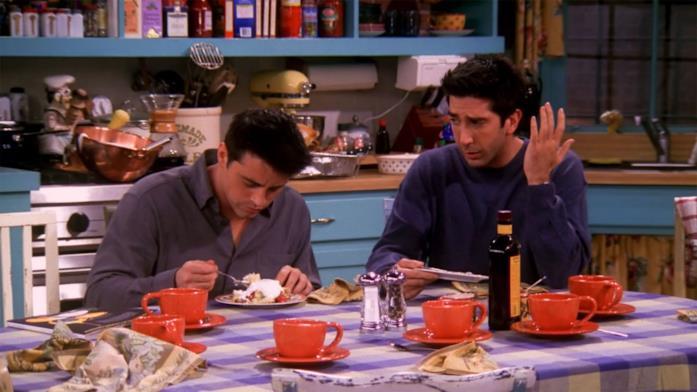 Un classico pasto nella serie TV Friends