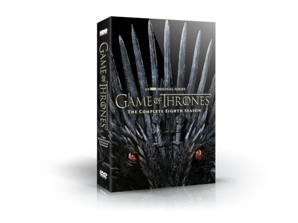 La copertina del cofanetto di Game of Thrones 8 in DVD