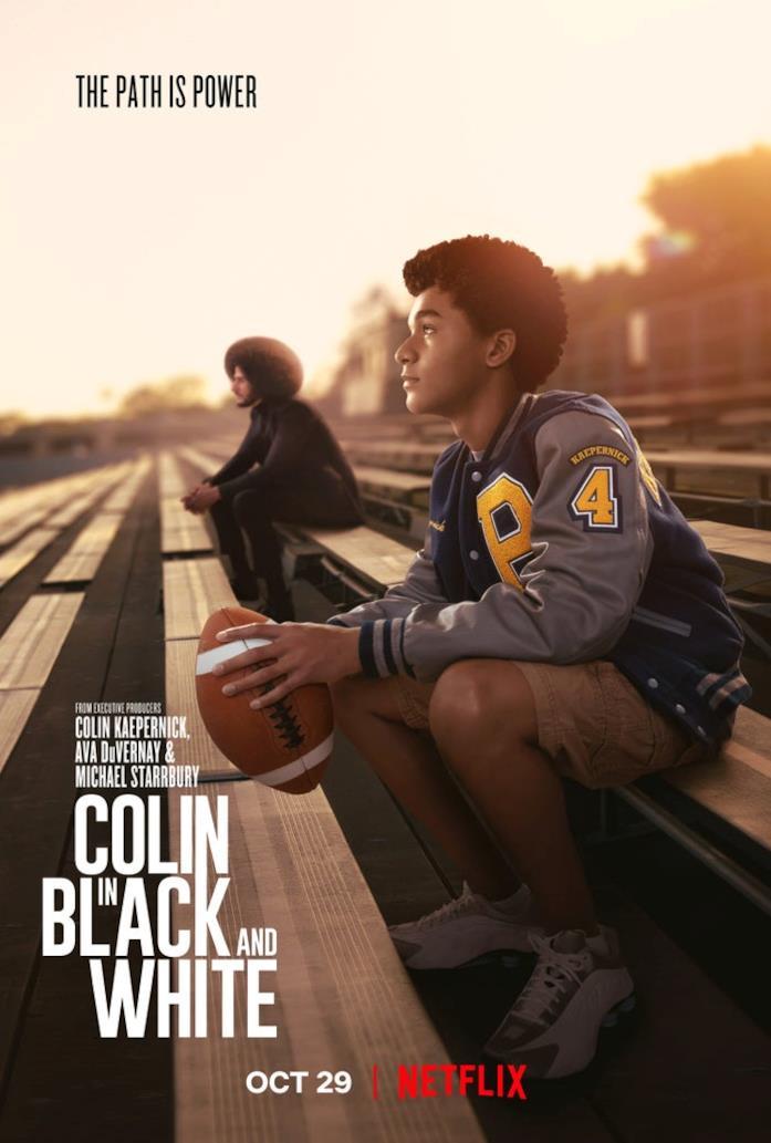 Il poster di Colin in bianco e nero