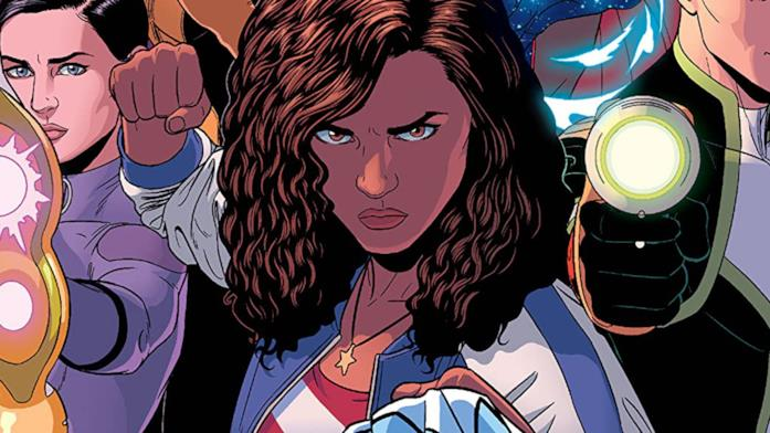 Dettaglio della cover di Young Avengers Vol. 3: Mic-Drop At The Edge Of Time And Space