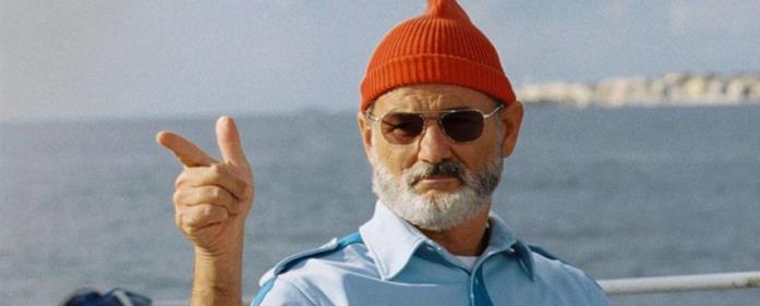 Bill Murray in una scena del film Le avventure acquatiche di Steve Zissou di Wes Anderson