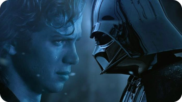 Immagine di Anakin e Darth Vader