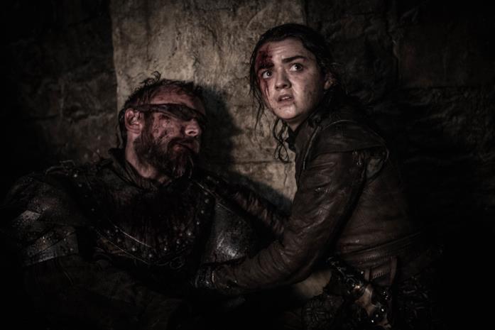 Beric e Arya in Game of Thrones 8x03