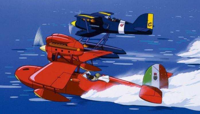 Donald Curtis e Marco Pagot in volo durante la gara